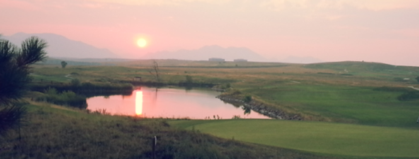 Golf Course, Sunset, Fairways